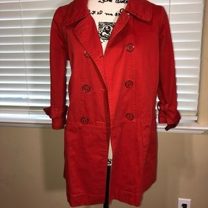 Red Lightweight Jacket/Coat with 3/4 Sleeves